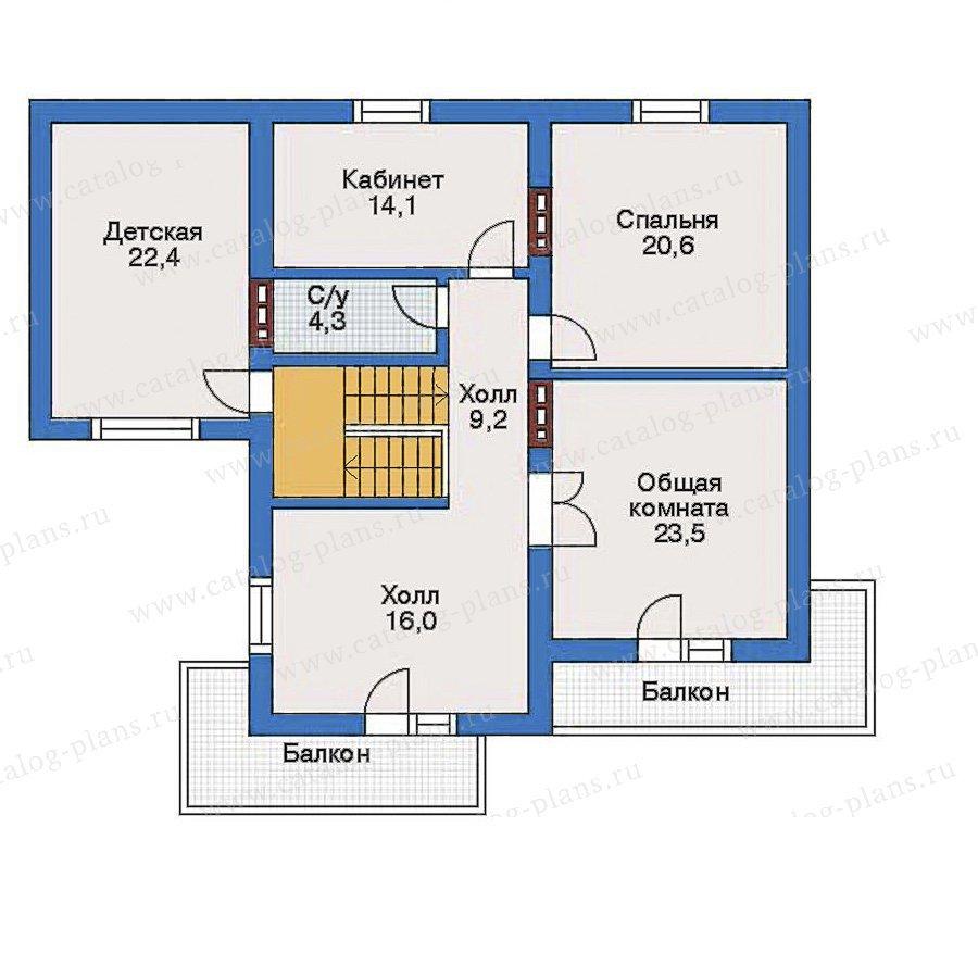 План 3-этажа проекта 32-05