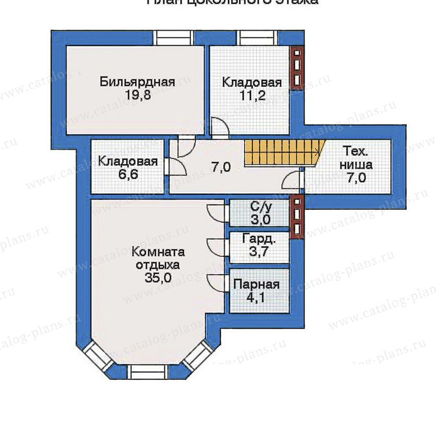 План 1-этажа проекта 32-23