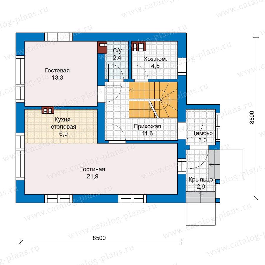 План 1-этажа проекта 59-81