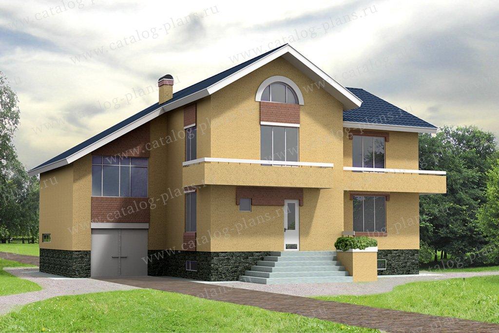 Проект жилой дом #32-05 материал - кирпич, стиль европейский