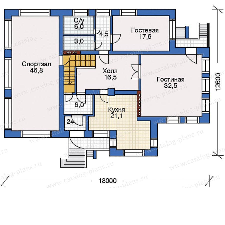 План 2-этажа проекта 32-26
