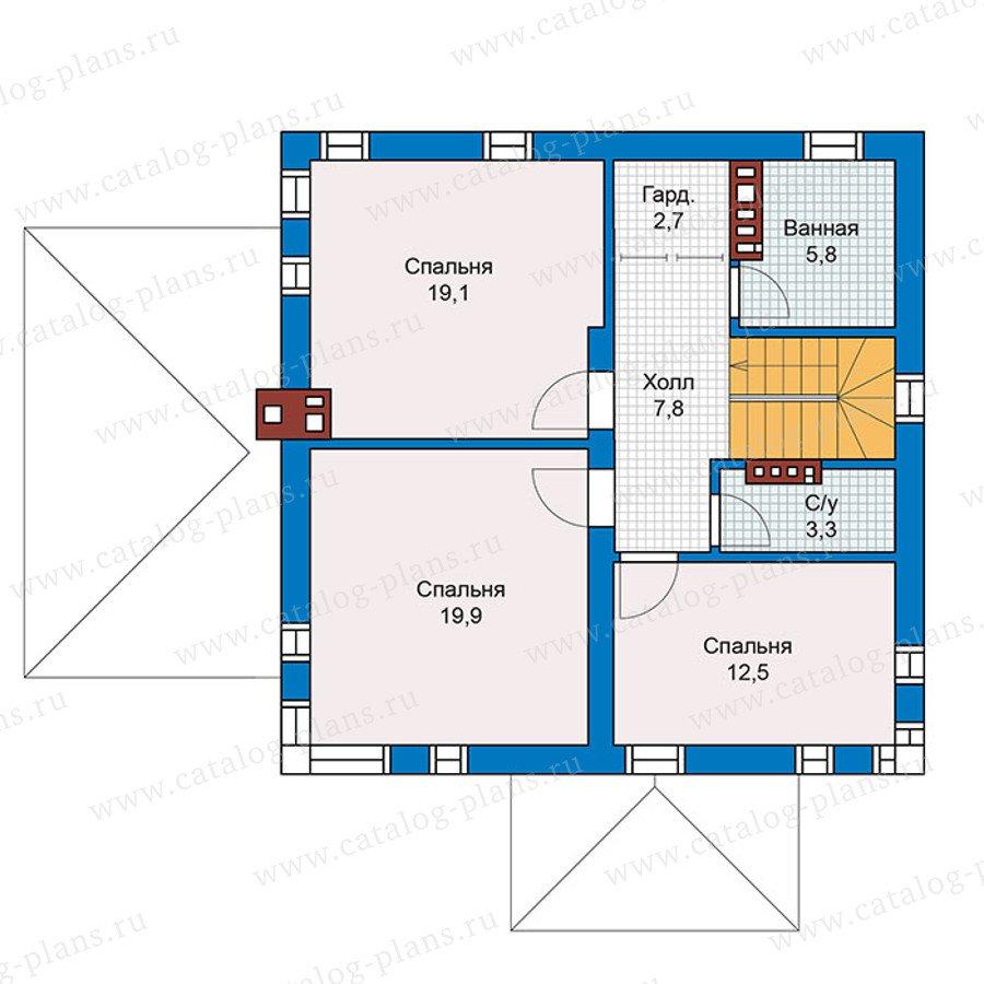 План 2-этажа проекта 59-79K