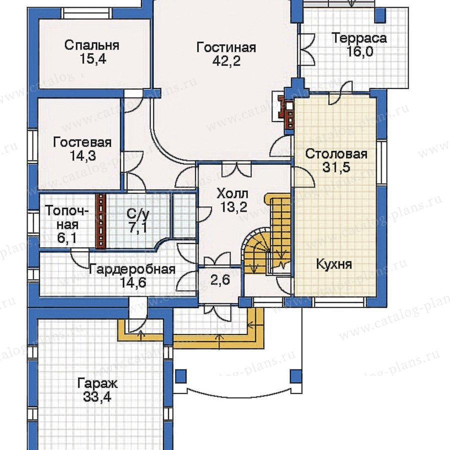 План 2-этажа проекта 32-22