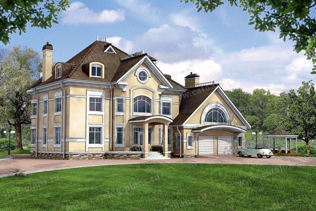 Проект жилой дом #32-12 материал - кирпич, стиль классический