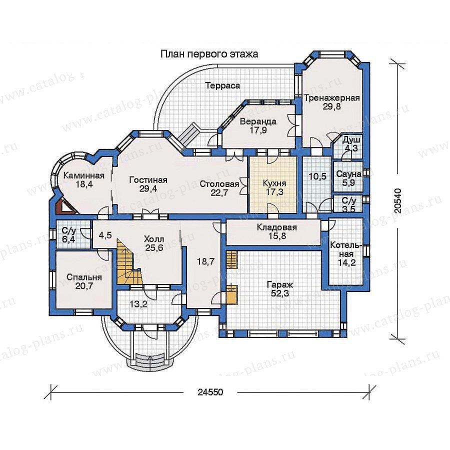 План 1-этажа проекта 32-12