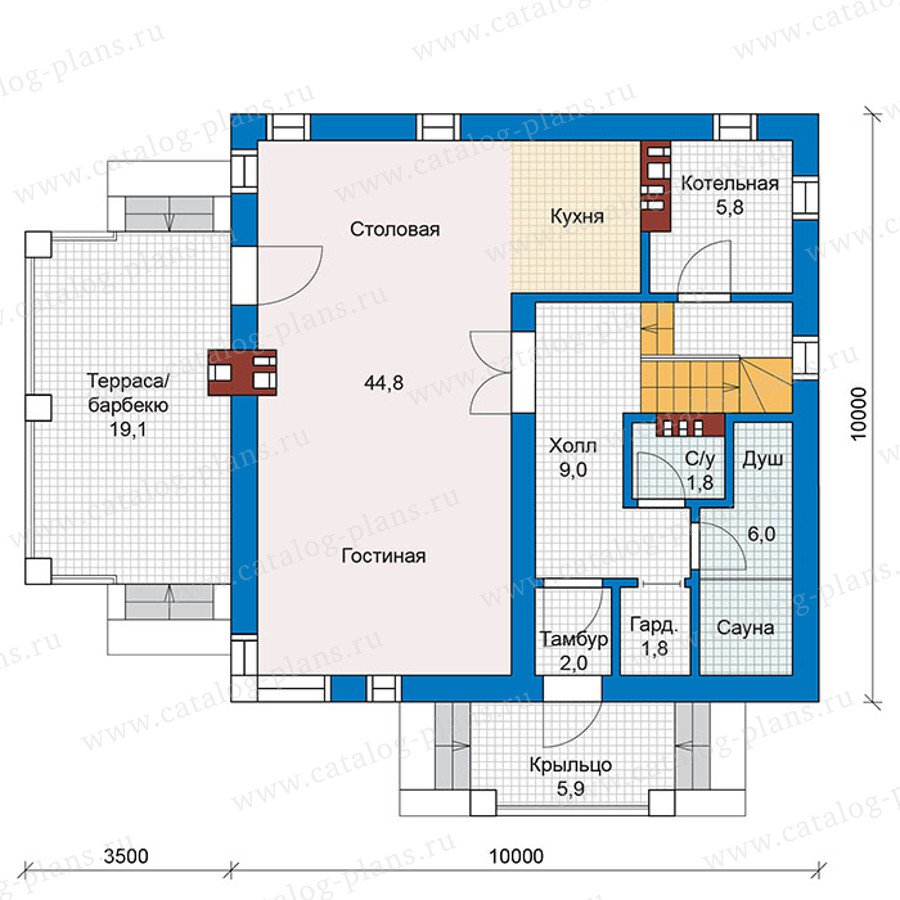 План 1-этажа проекта 59-79K