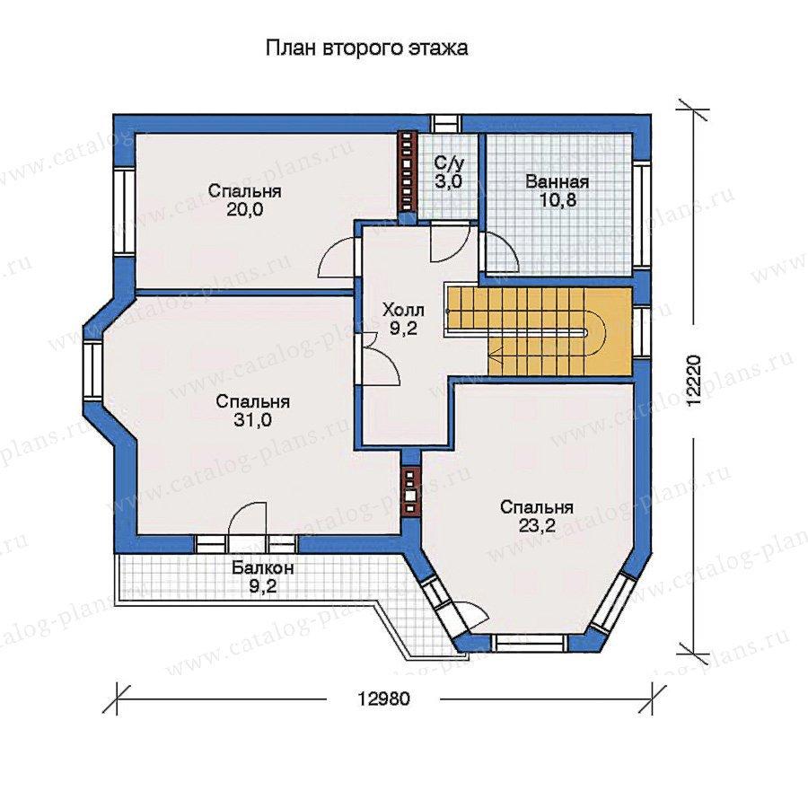 План 3-этажа проекта 32-21
