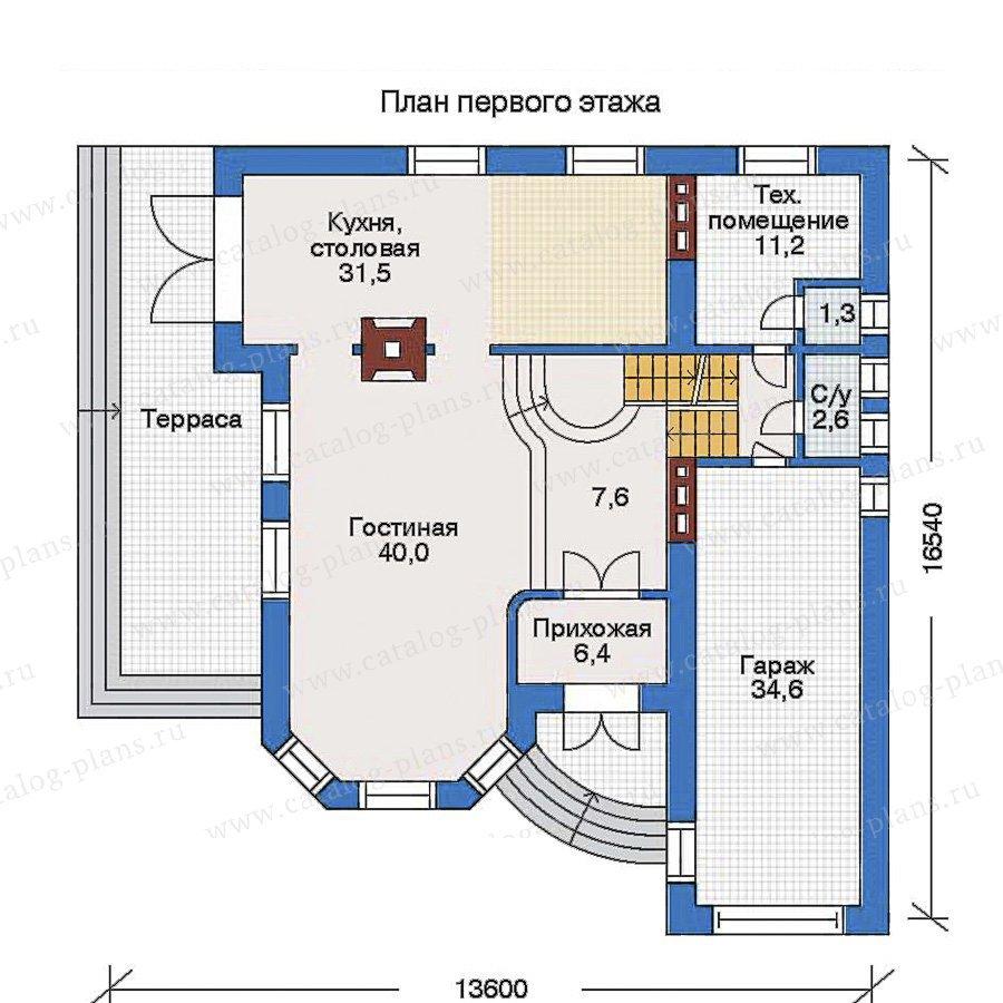 План 2-этажа проекта 32-23