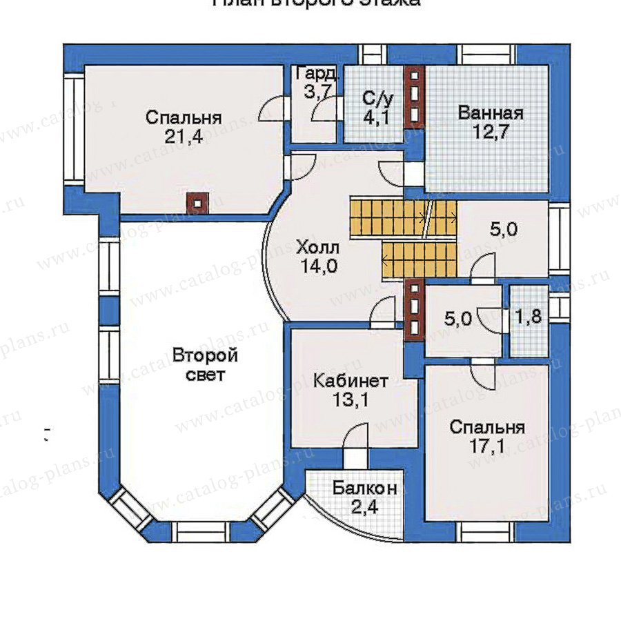 План 3-этажа проекта 32-23