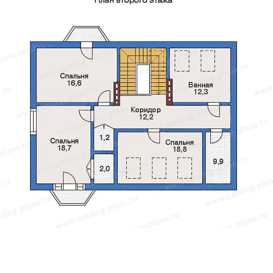 План 3-этажа проекта 32-07