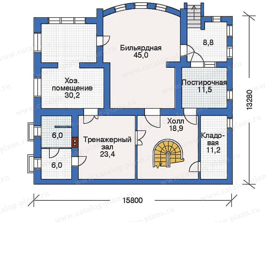 План 1-этажа проекта 32-22