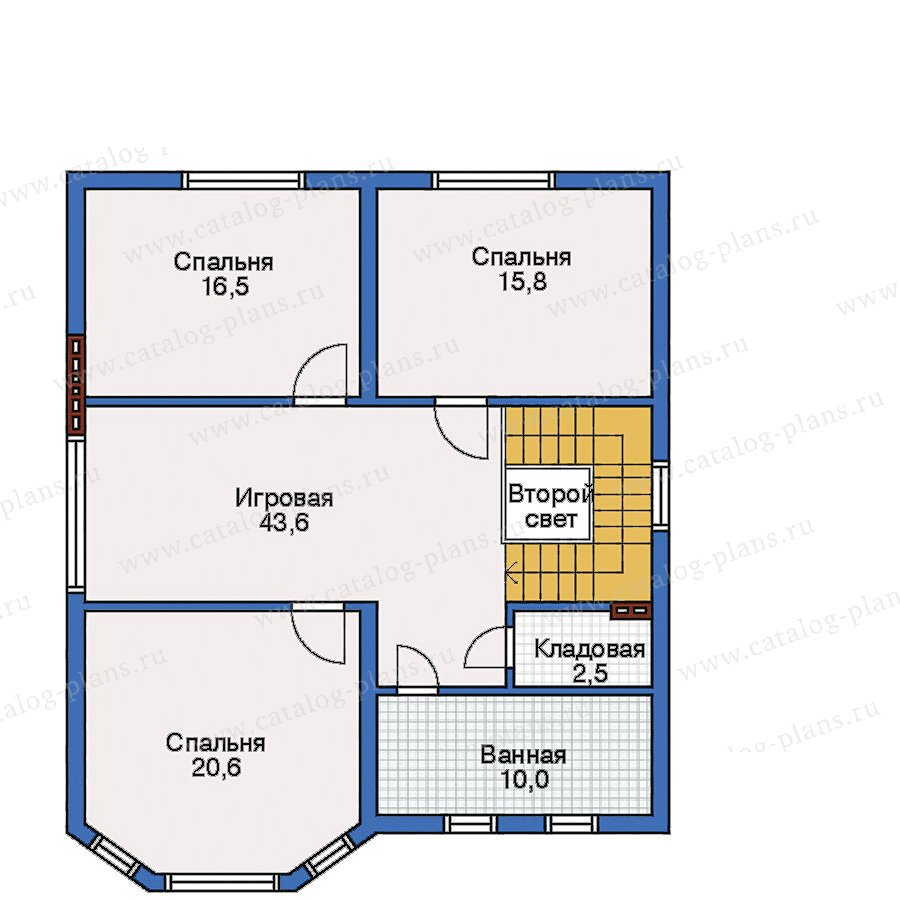 План 3-этажа проекта 32-25