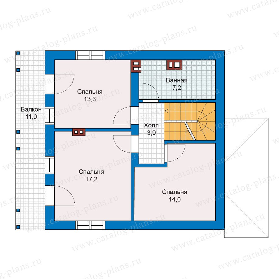 План 2-этажа проекта 59-81