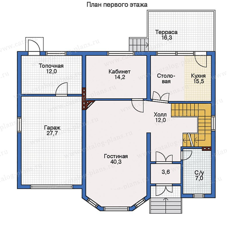План 2-этажа проекта 32-25