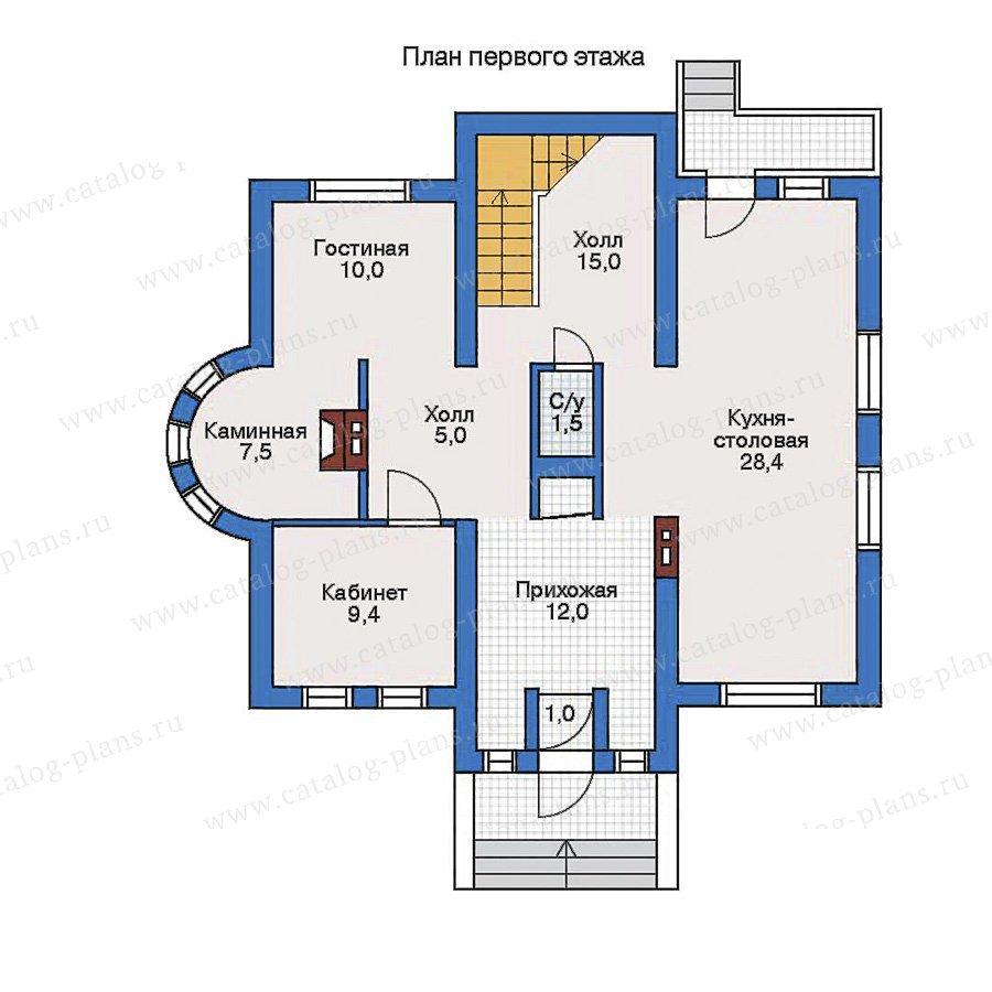План 1-этажа проекта 32-29