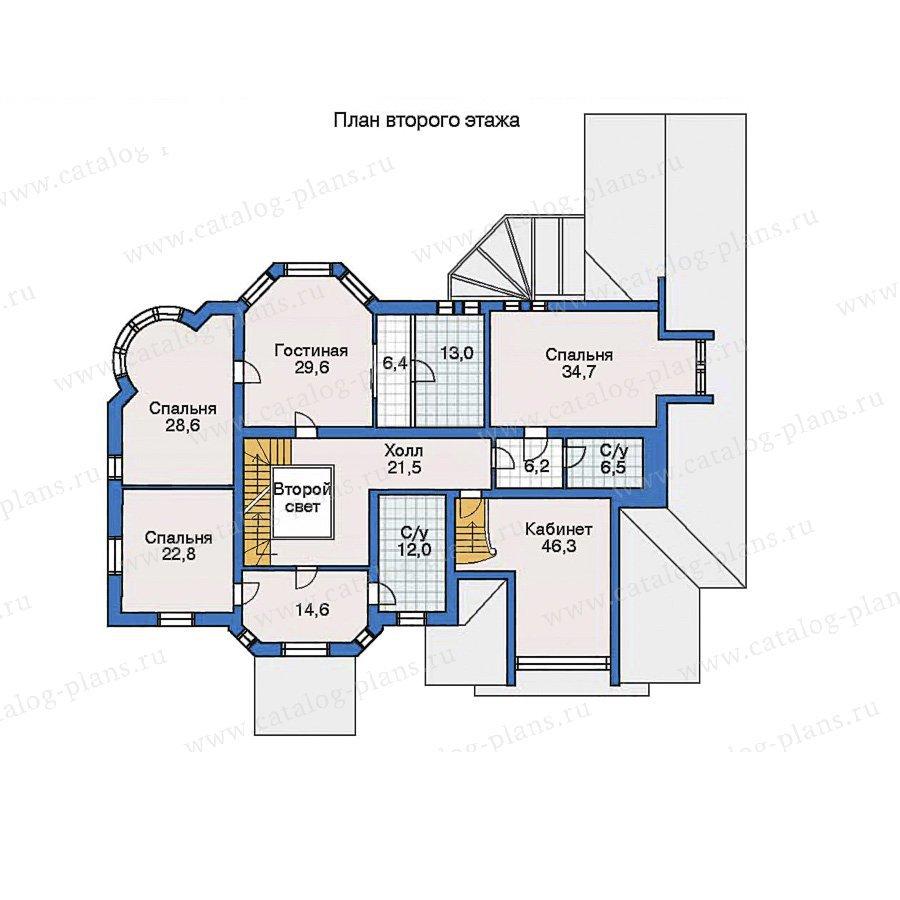 План 2-этажа проекта 32-12
