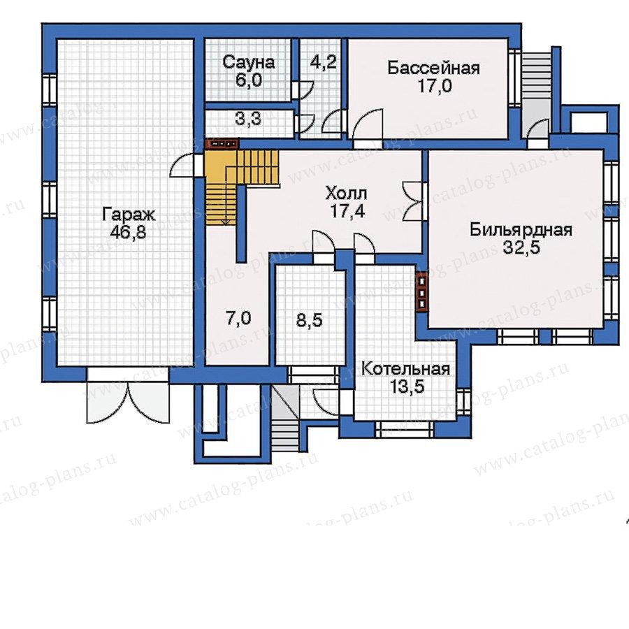 План 1-этажа проекта 32-26