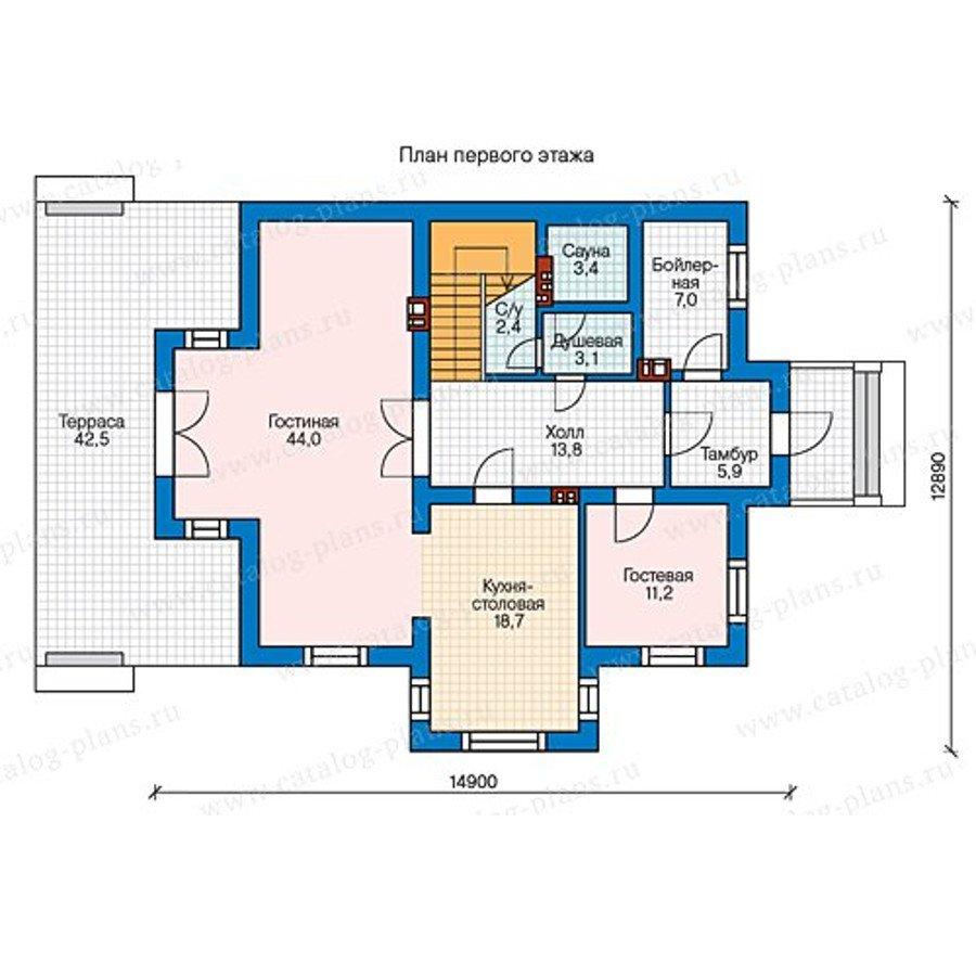 План 1-этажа проекта 58-00