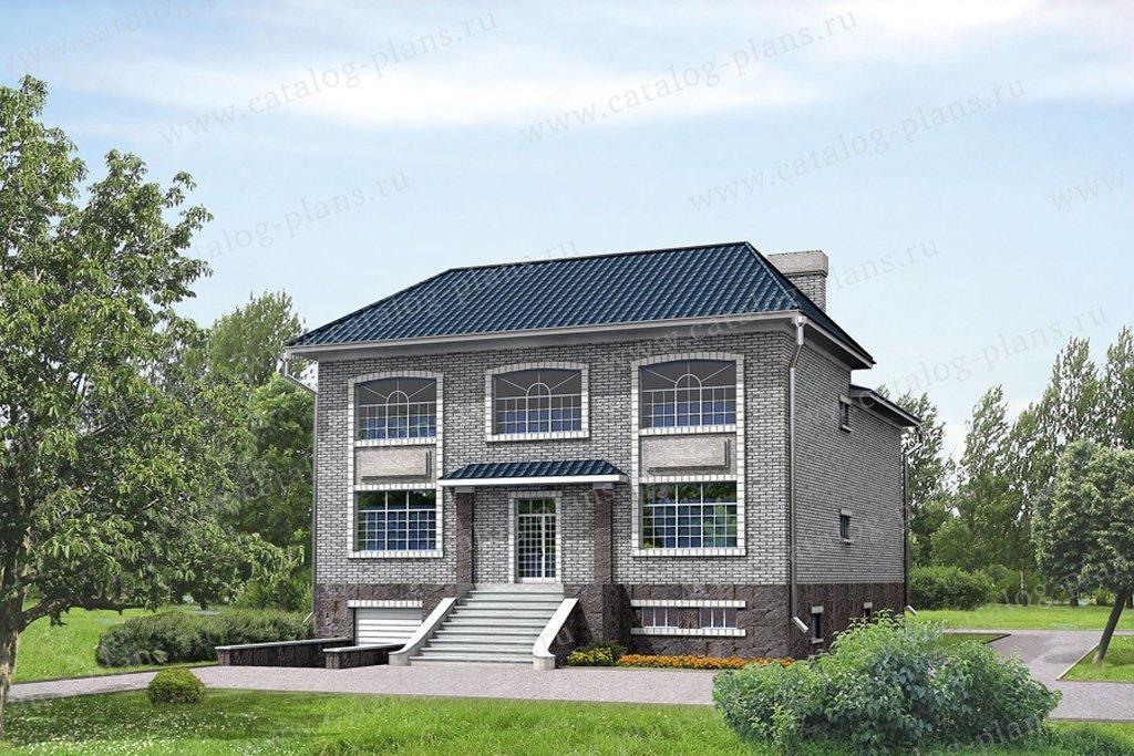 Проект жилой дом #32-11 материал - кирпич, стиль английский