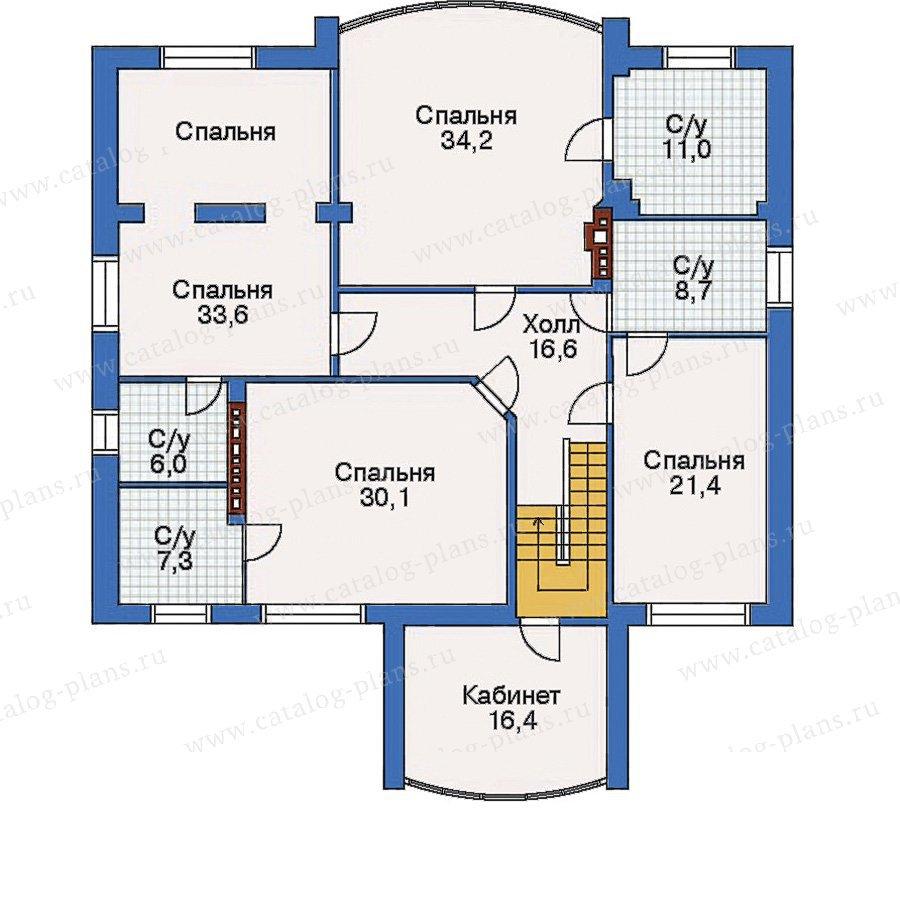 План 3-этажа проекта 32-22