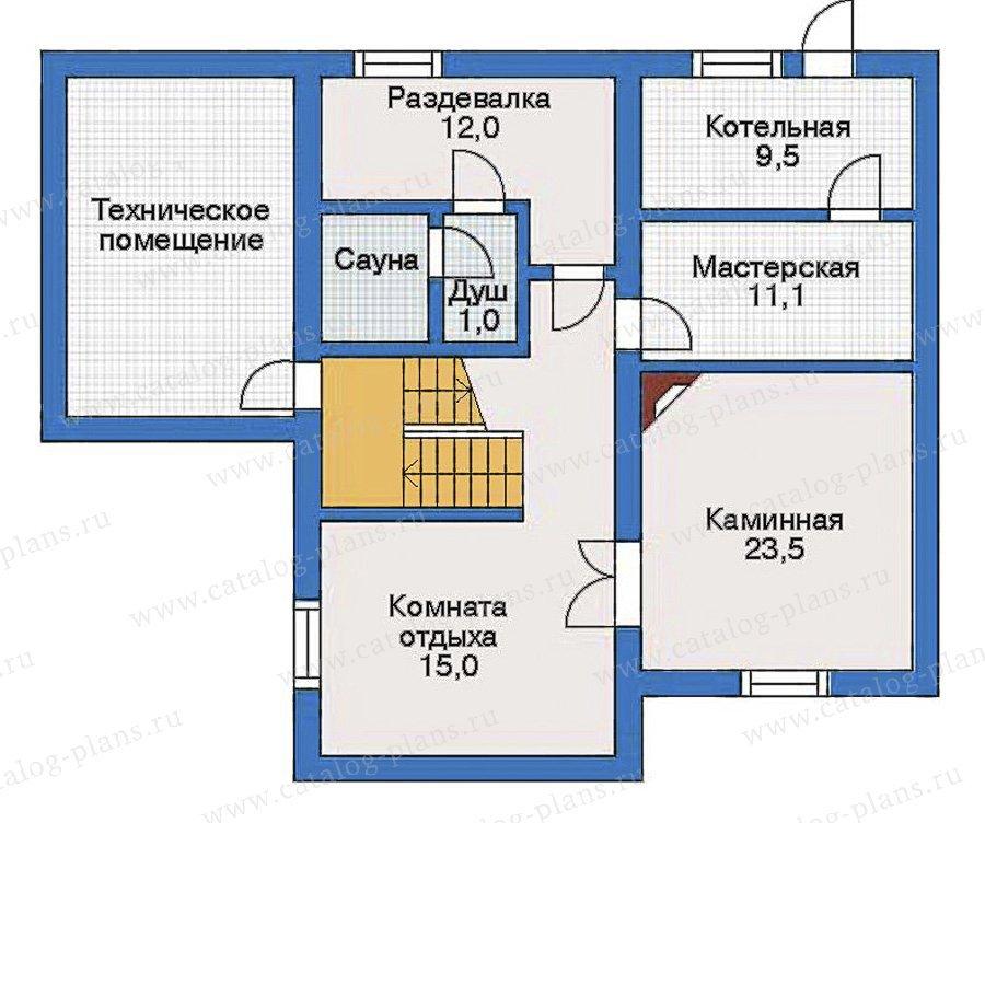 План 1-этажа проекта 32-05