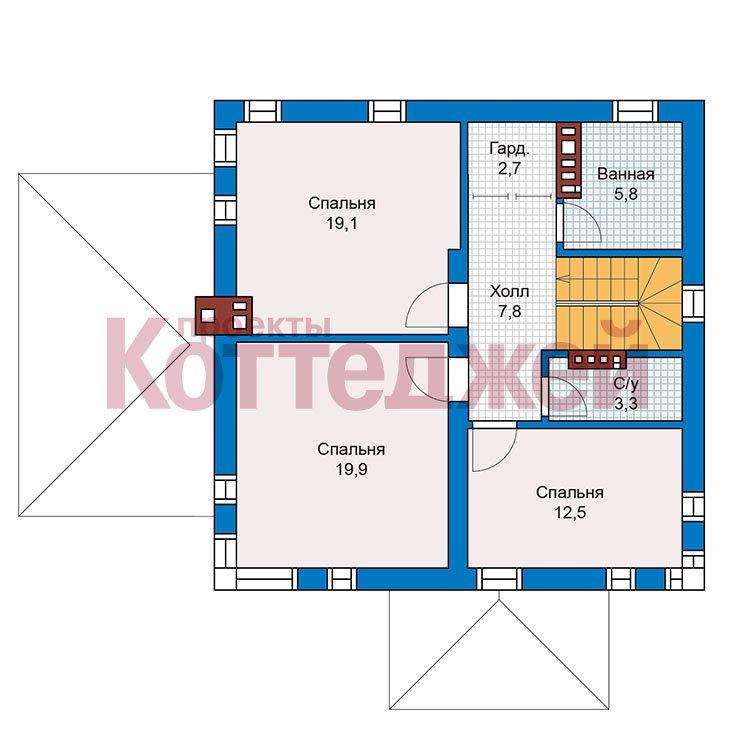 План 2-этажа проекта 59-79