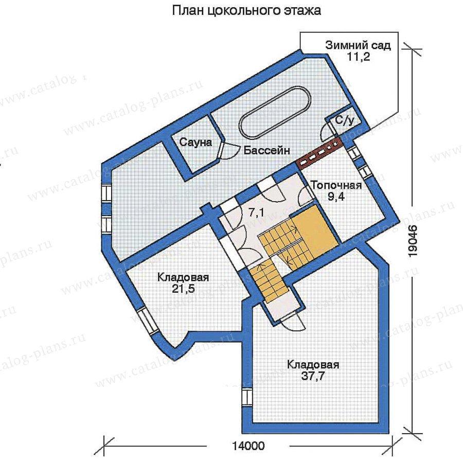 План 1-этажа проекта 32-24