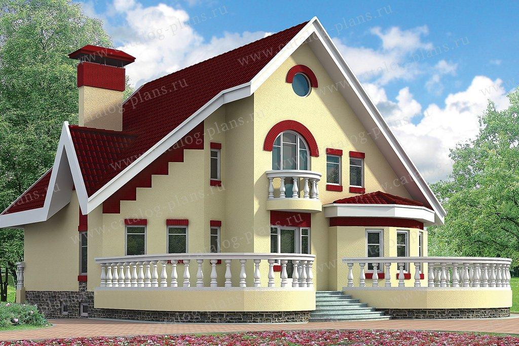 Проект жилой дом #32-72 материал - кирпич, стиль европейский