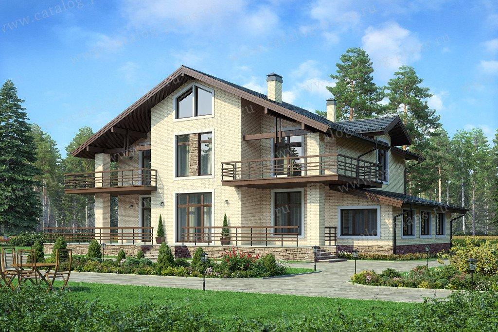 Проект жилой дом #58-02К материал - кирпич, стиль европейский
