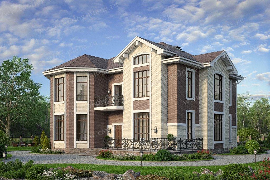 Проект жилой дом #40-11CL материал - кирпич, стиль европейский