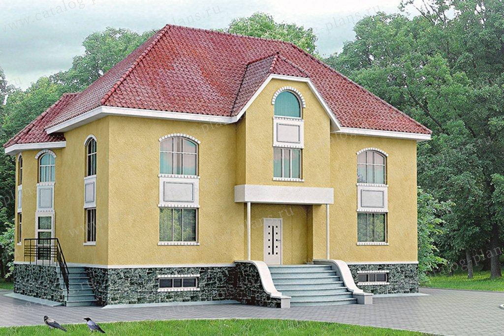 Проект жилой дом #32-49 материал - кирпич, стиль европейский