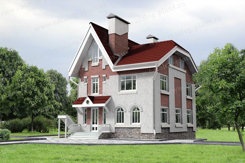 Проект жилой дом #32-41 материал - кирпич, стиль английский