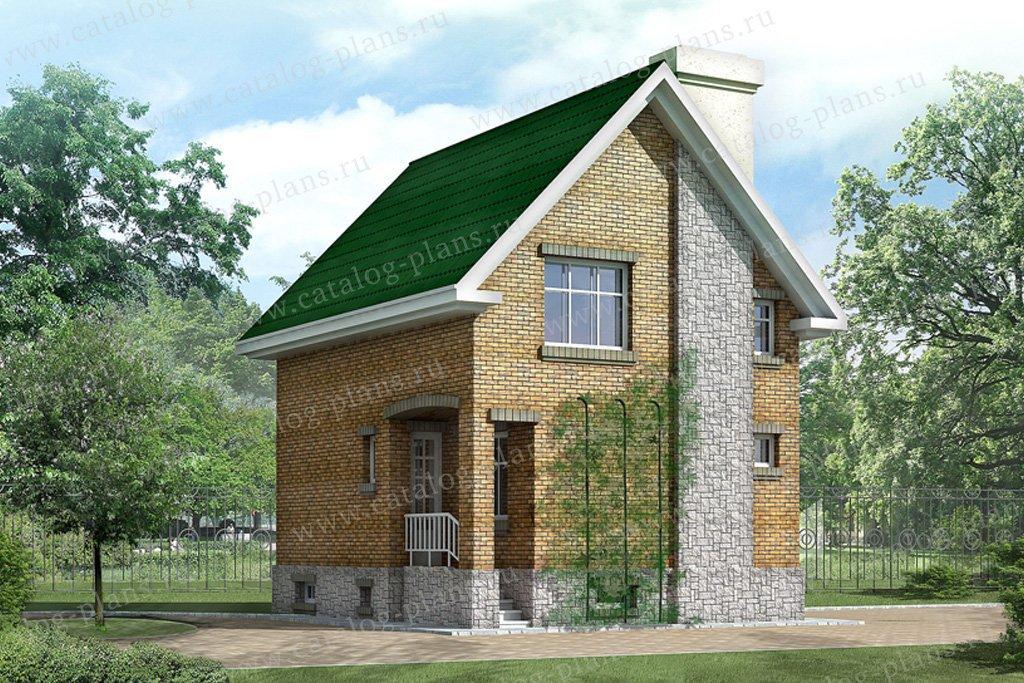 Проект жилой дом #32-99 материал - кирпич, стиль современный