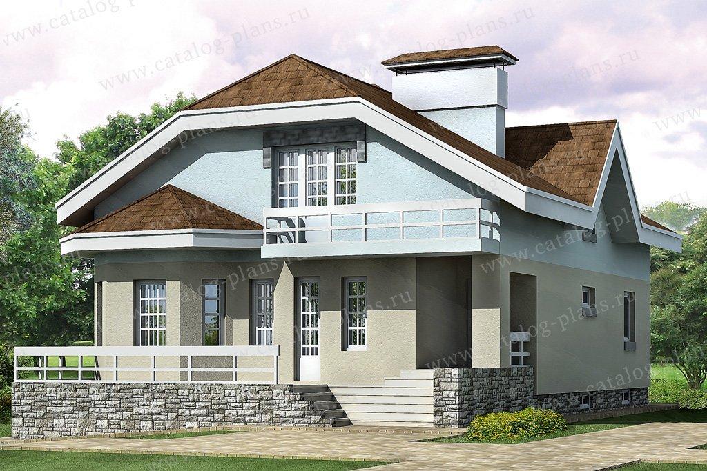 Проект жилой дом #32-73 материал - кирпич, стиль европейский