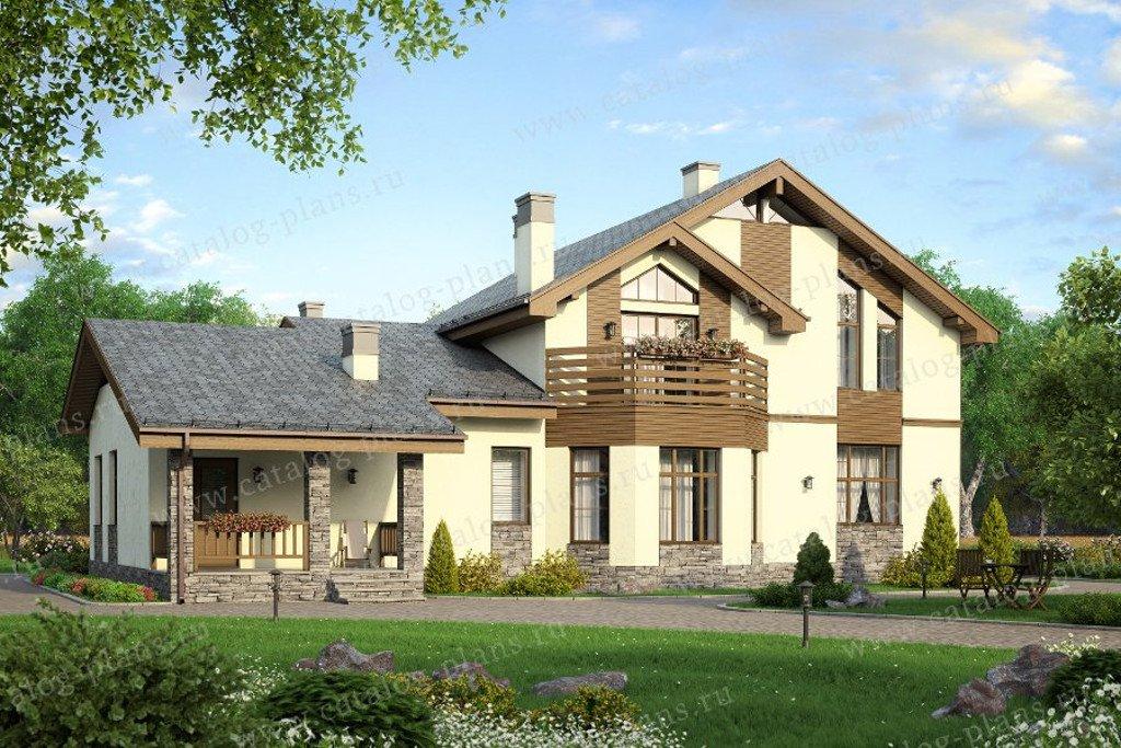 Проект жилой дом #40-23G материал - газобетон, стиль современный