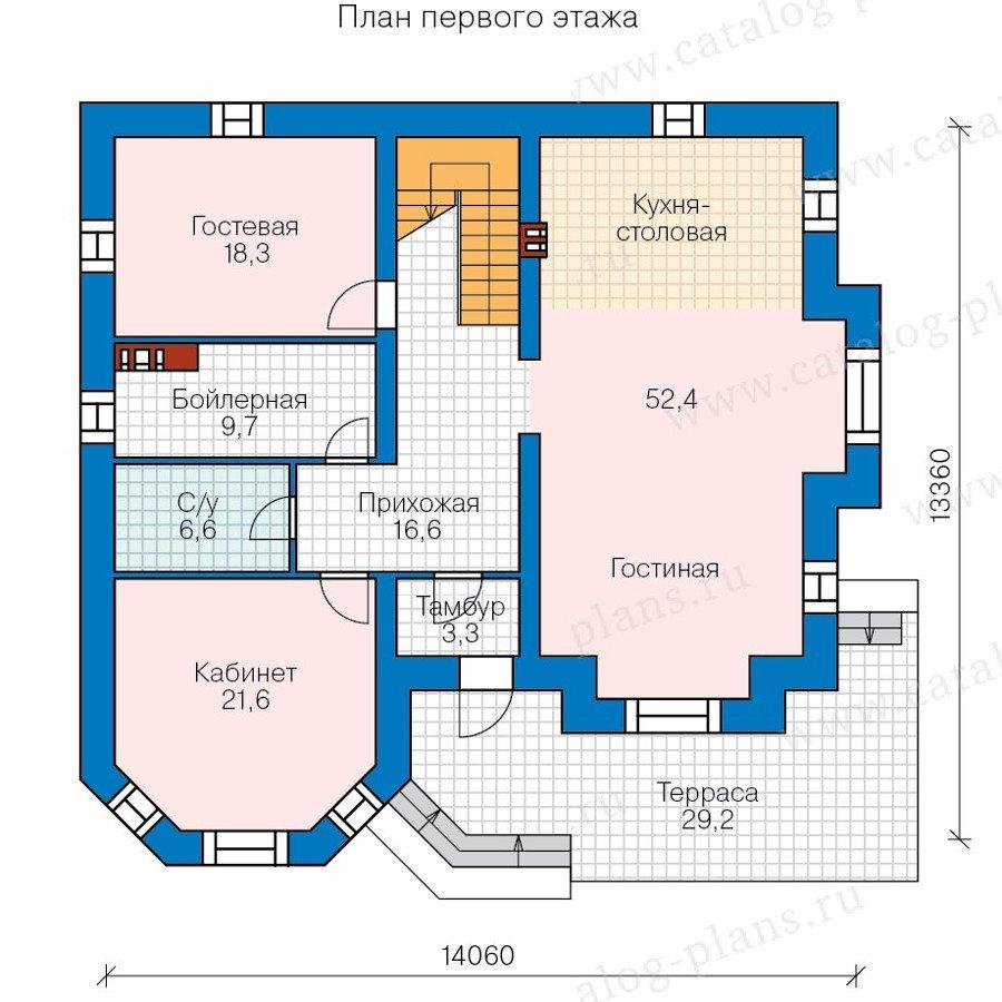 План 1-этажа проекта 40-11CL