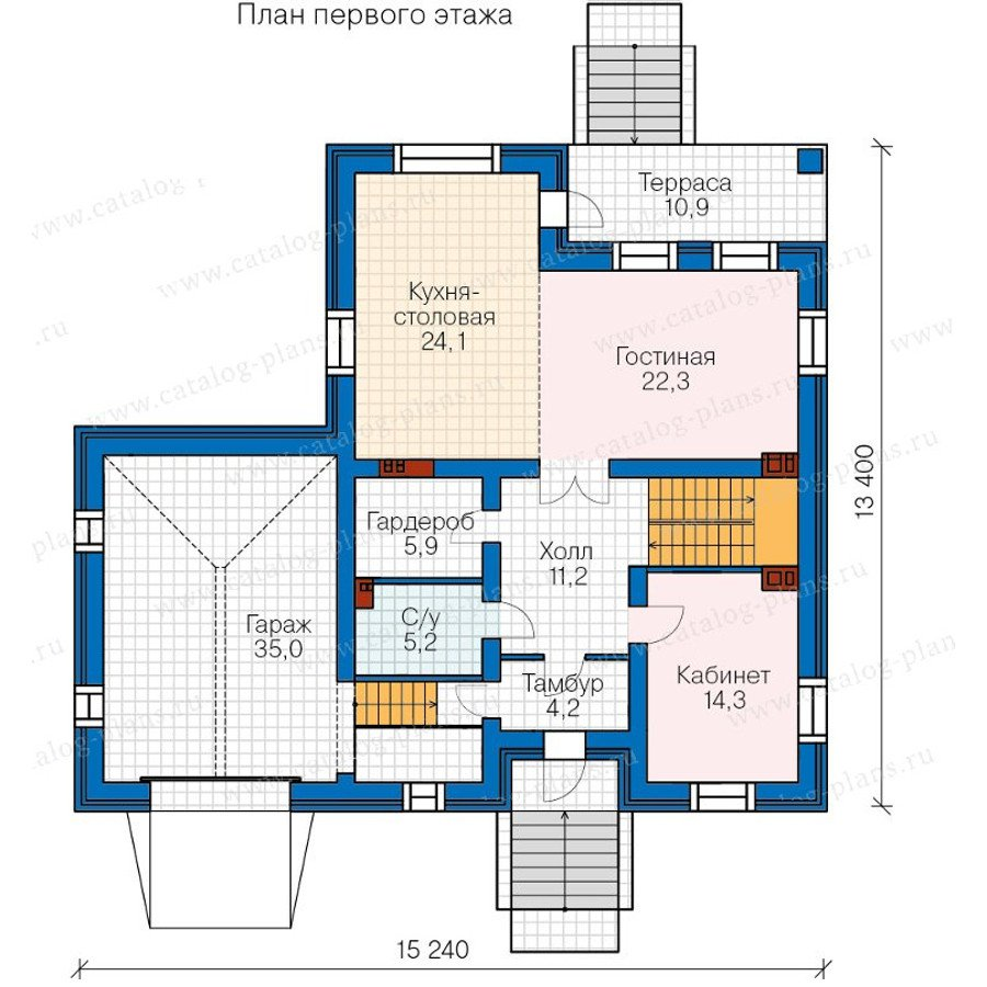 План 2-этажа проекта 40-24G