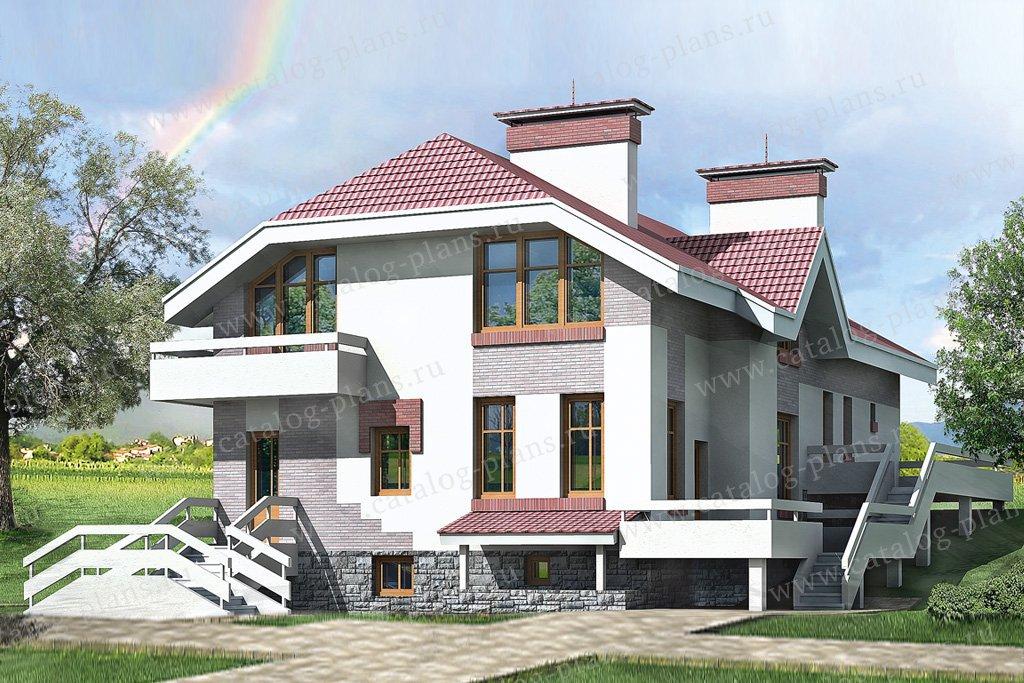 Проект жилой дом #32-80 материал - кирпич, стиль европейский