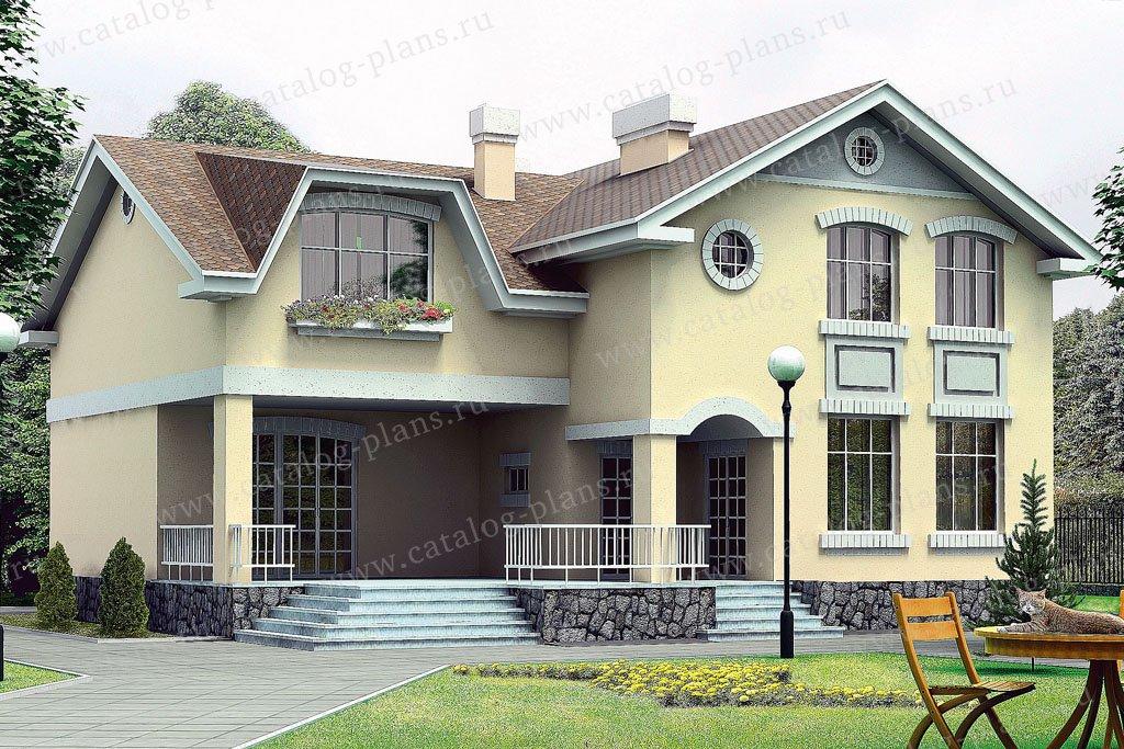 Проект жилой дом #32-83 материал - кирпич, стиль европейский