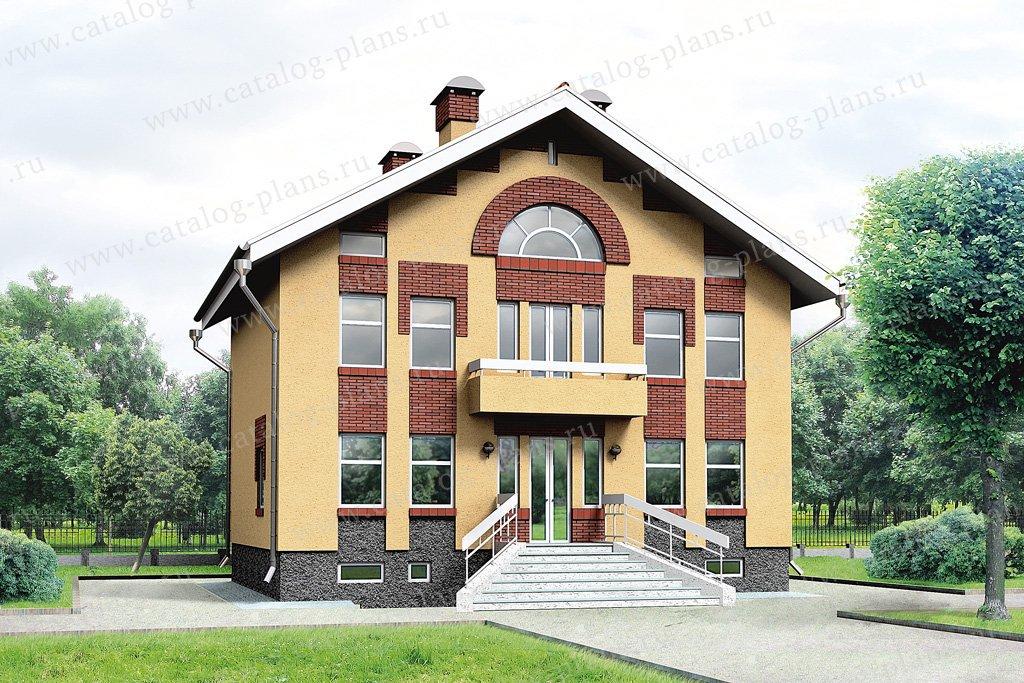 Проект жилой дом #32-36 материал - кирпич, стиль европейский