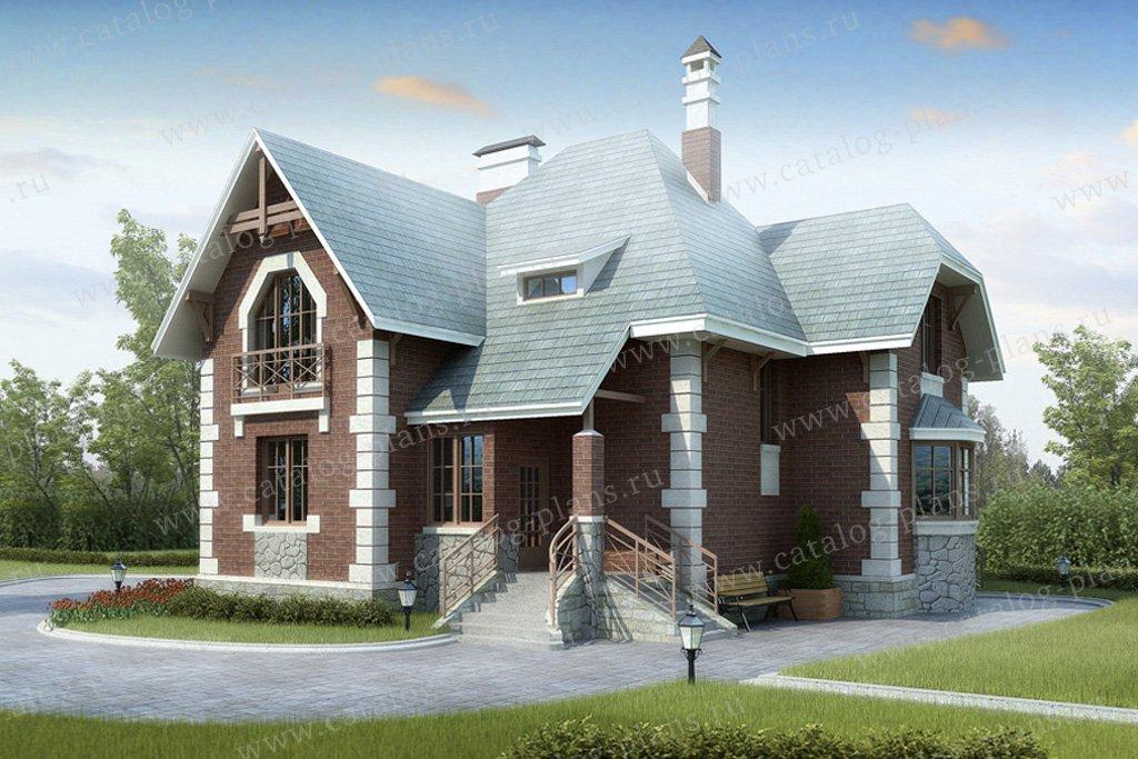 Проект жилой дом #32-62 материал - кирпич, стиль европейский