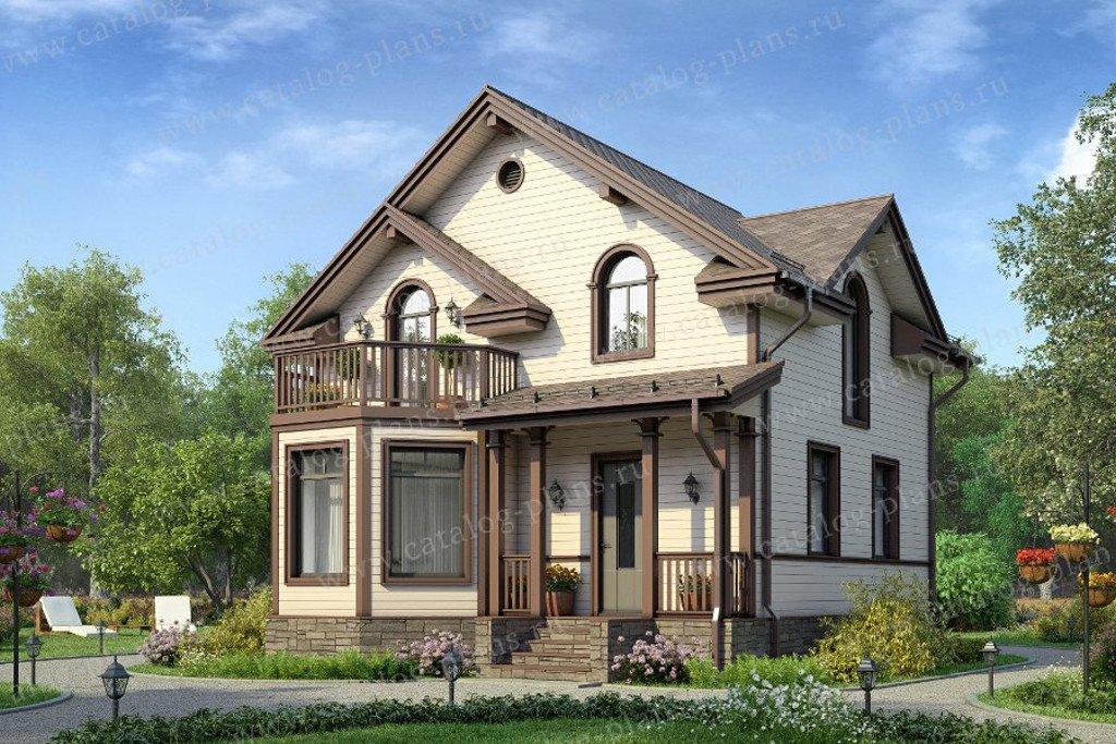 Проект жилой дом #13-59 материал - дерево, стиль европейский