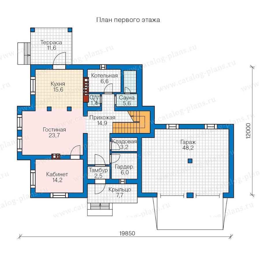 План 1-этажа проекта 57-00C