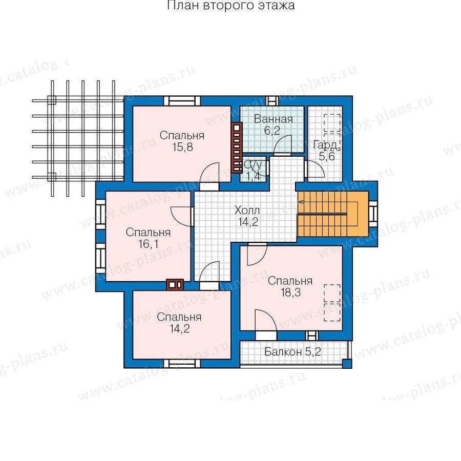 План 2-этажа проекта 57-00CK