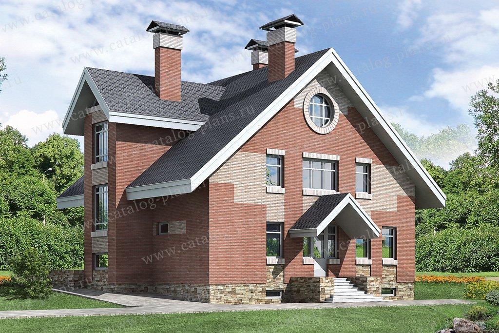 Проект жилой дом #32-90 материал - кирпич, стиль европейский