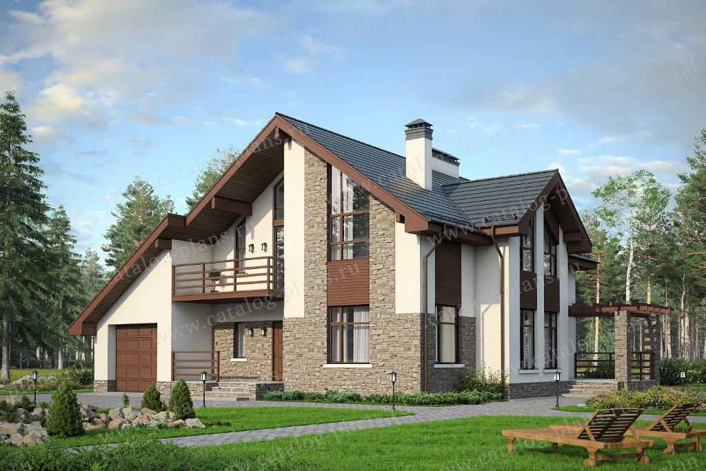 Проект жилой дом #57-00AK материал - кирпич, стиль современный