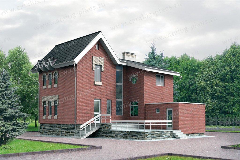 Проект жилой дом #32-31 материал - кирпич, стиль европейский
