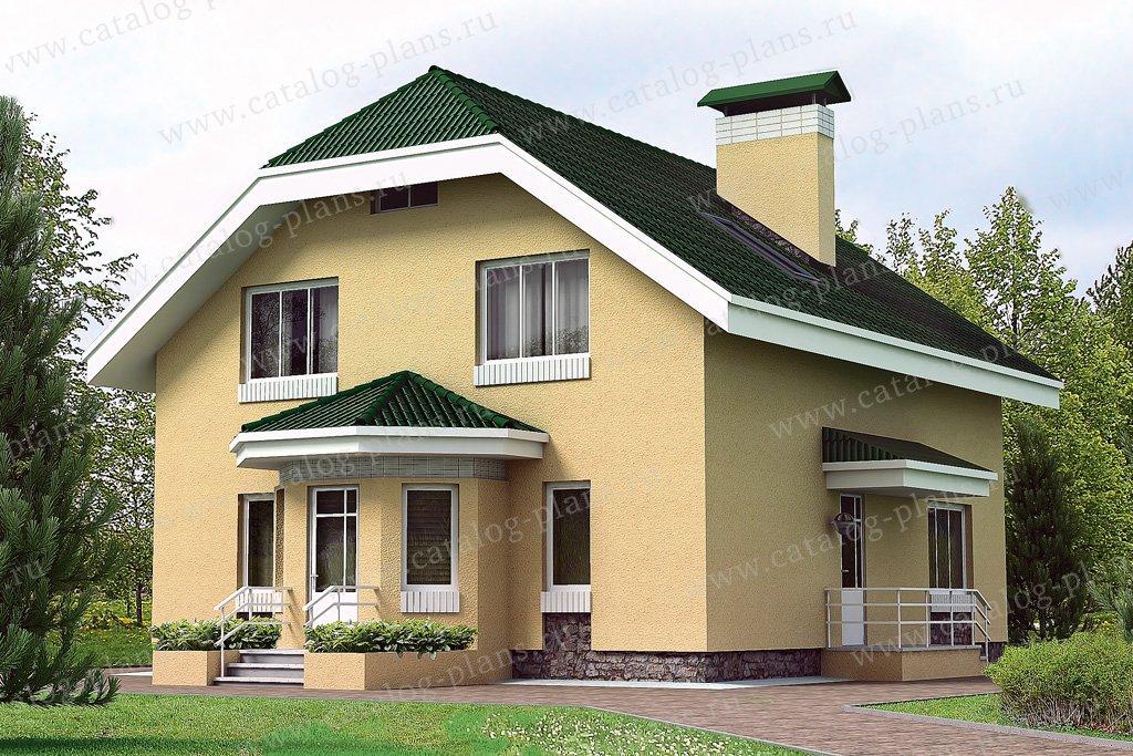Проект жилой дом #32-89 материал - кирпич, стиль европейский