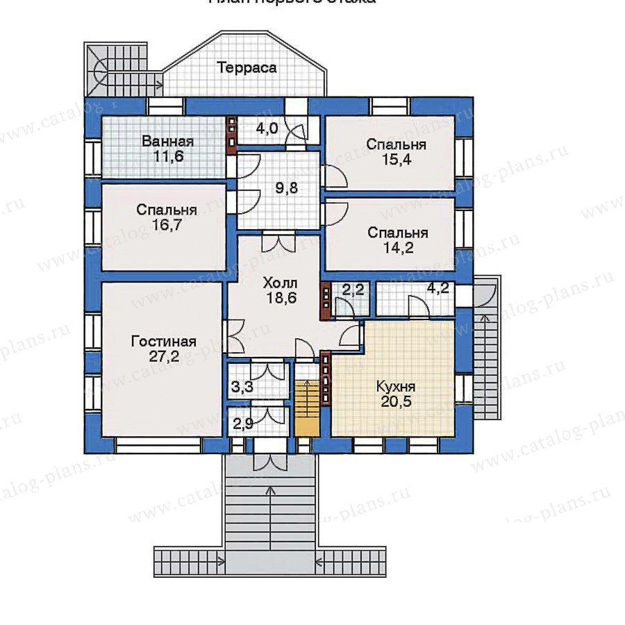 План 2-этажа проекта 32-38
