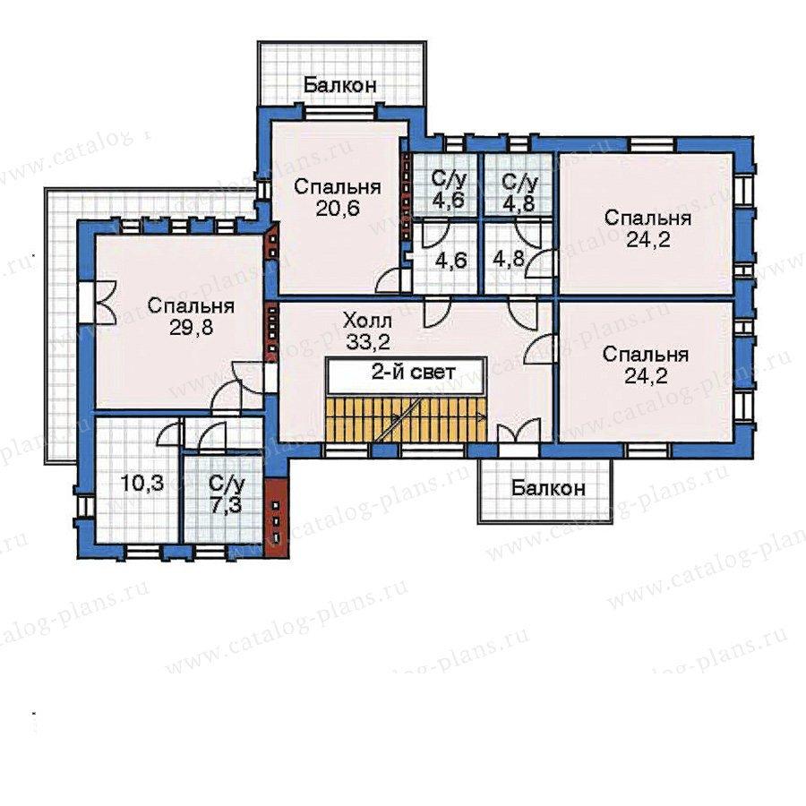 План 3-этажа проекта 32-33